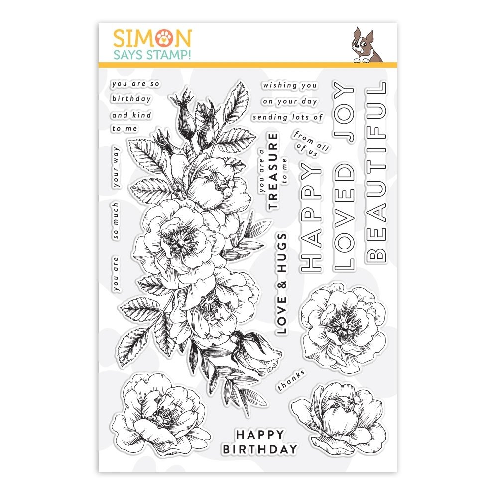Simon Says Stamp BEAUTIFUL FLOWERS Clear Stamp Set