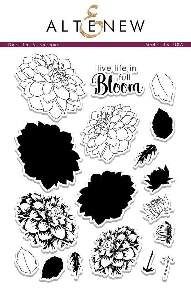 Altenew DAHLIA BLOSSOMS Clear Stamp Set