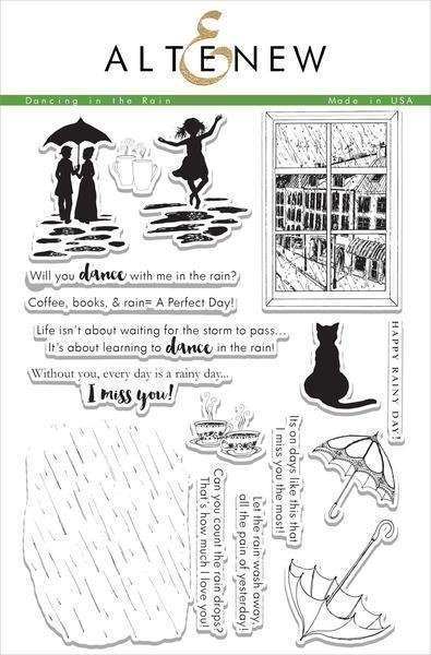 Altenew DANCING IN THE RAIN Clear Stamp Set