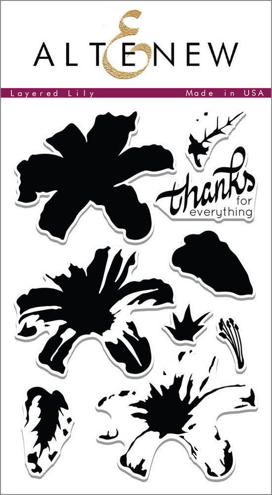 Altenew LAYERED LILY Clear Stamp Set