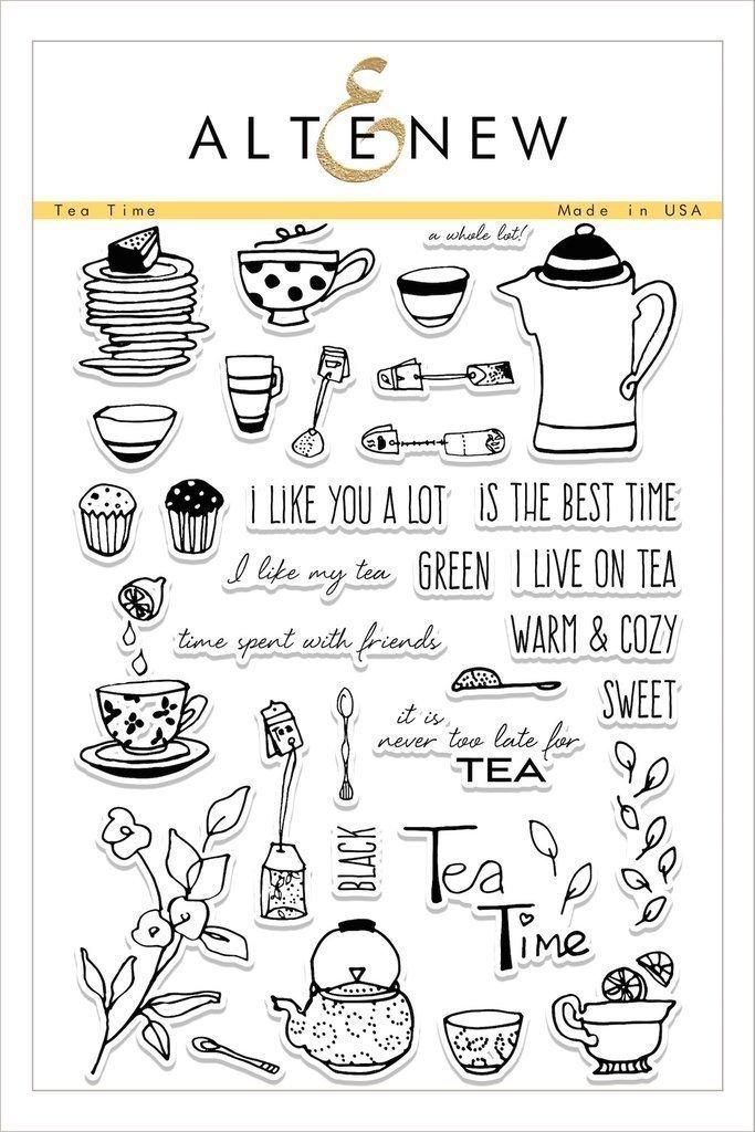 Altenew TEA TIME Clear Stamp Set