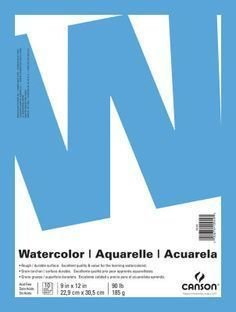 """Canson 9"""" x 12"""" Watercolor Art Paper Pad 185gsm"""