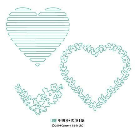 Concord & 9th LAYERS OF LOVE Die Set