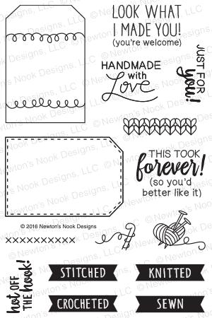 Newton's Nook Designs TAG SAMPLER Clear Stamp Set