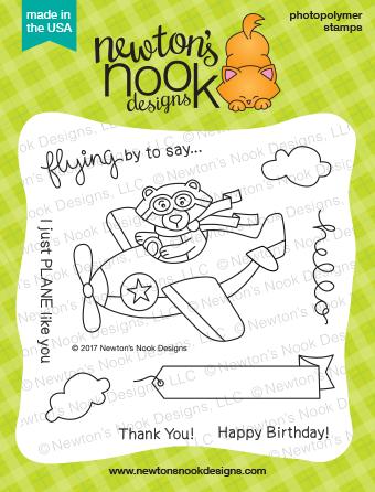 Newton's Nook WINSTON TAKES FLIGHT Clear Stamp Set