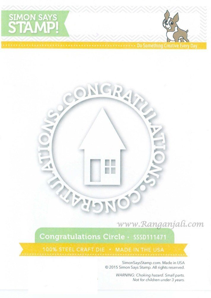 Simon Says Stamp CONGRATULATIONS CIRCLE Wafer Dies