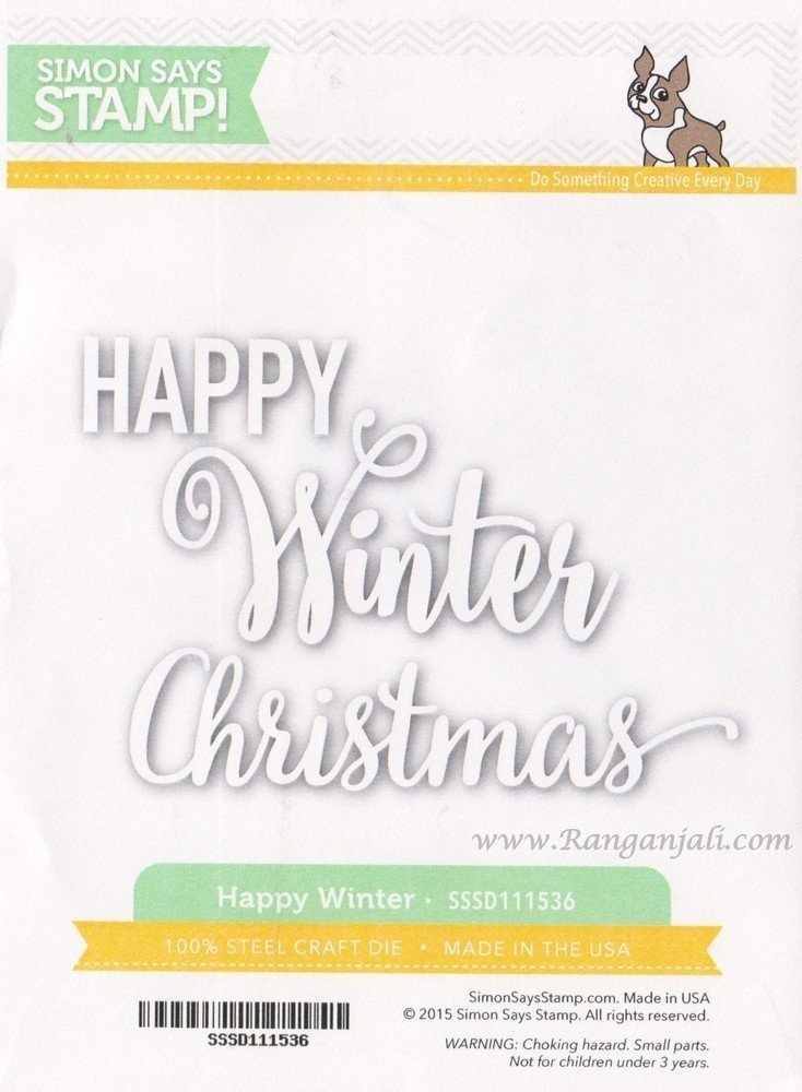 Simon Says Stamp HAPPY WINTER and CHRISTMAS Wafer Dies