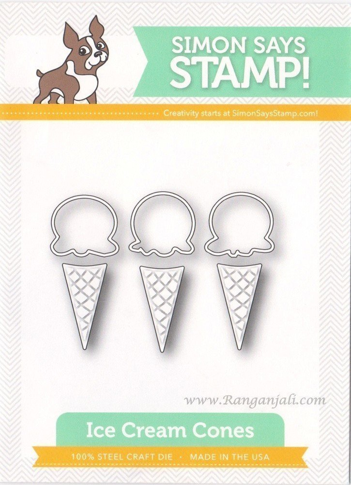 Simon Says Stamp ICE CREAM CONES Craft Dies