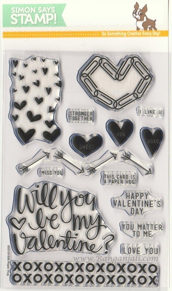 Simon Says Stamp PAPER HUGS Clear Stamp Set