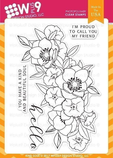 Wplus9 KIND SOUL Clear Stamp Set