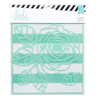 Heidi Swapp FLOWER Mixed Media Stencil 6X6