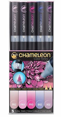 Chameleon FLORAL TONES Alcohol Ink Pen Set