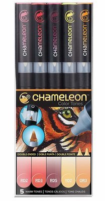 Chameleon WARM TONES Alcohol Ink Pen Set