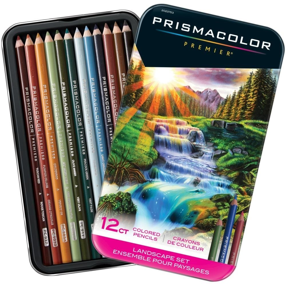 Prismacolor LANDSCAPE Premier Colored Pencil Set -12