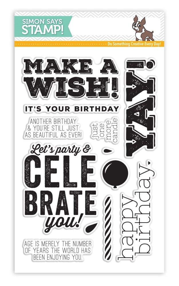 Simon Says Stamp BIG BIRTHDAY WISHES Clear Stamp Set