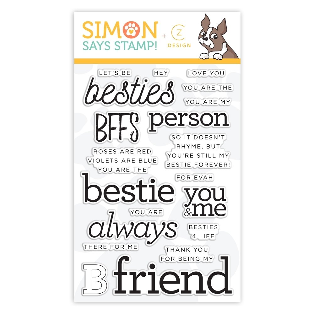 Simon Says Stamp BESTIES  Clear Stamp Set
