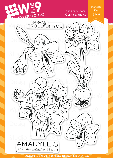 WPlus9 AMARYLLIS Clear Stamp Set