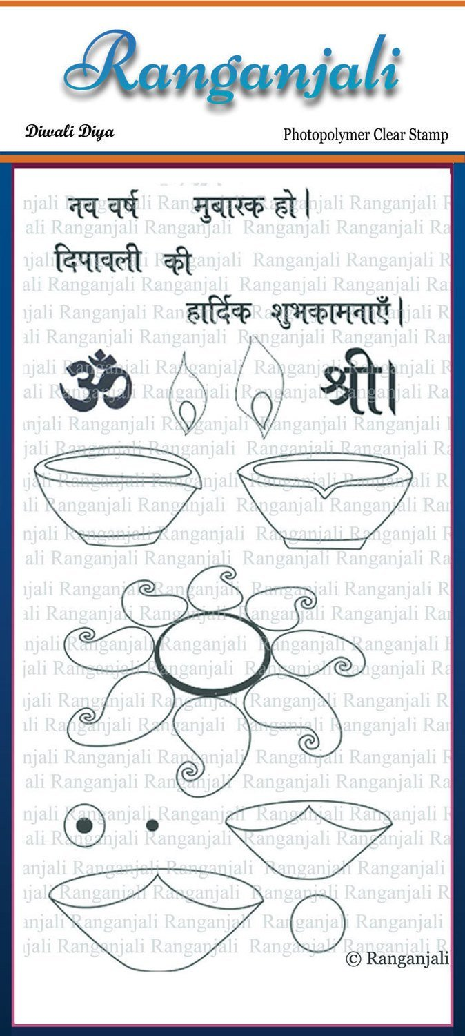 Ranganjali DIWALI DIYA Clear Stamp Set