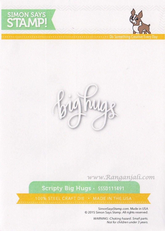 Simon Says Stamp SCRIPTY BIG HUGS Wafer Die