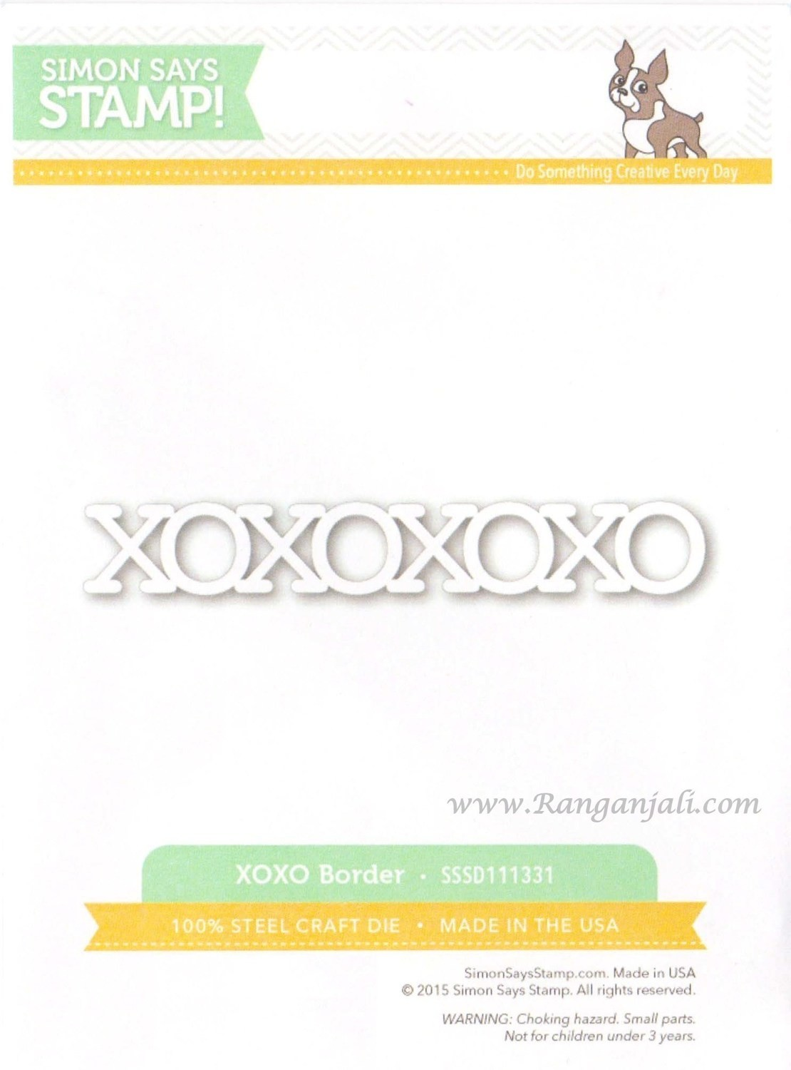 Simon Says Stamp XOXO BORDER Craft Die