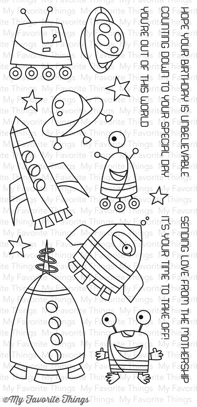 My Favorite Things OUT OF THIS WORLD Clear Stamp Set