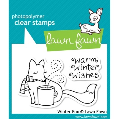 Lawn Fawn WARM WINTER FOX Clear Stamp Set