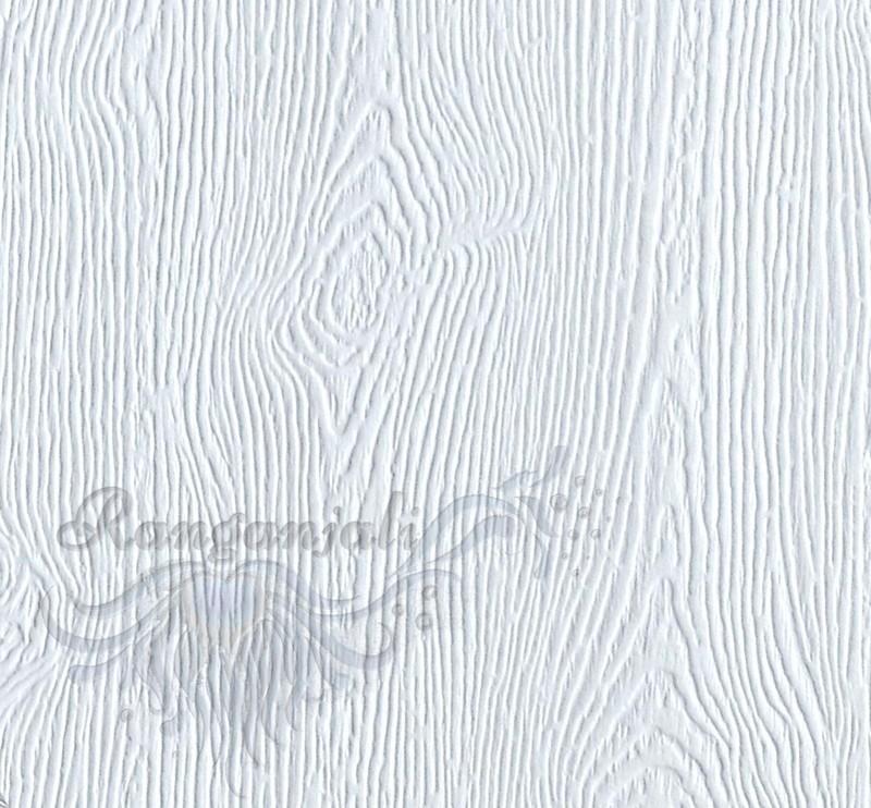 WOODGRAIN WHITE Textured Cardstock 300GSM-10/pk