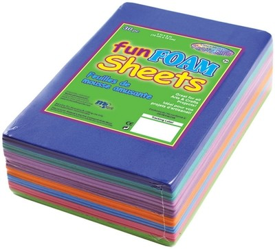 "Craft Medley Craft FUN FOAM Sheets 30/pkg 4""X6"""