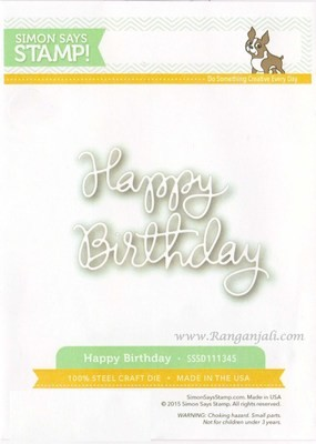 Simon Says Stamp HAPPY BIRTHDAY Craft Die