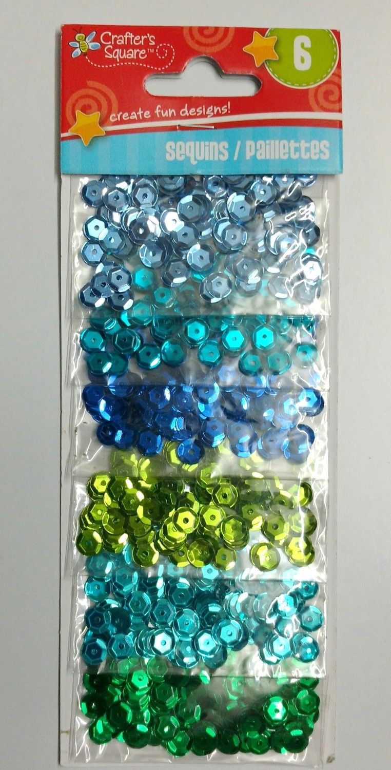 Crafter's Square BLUE-GREEN Sequins