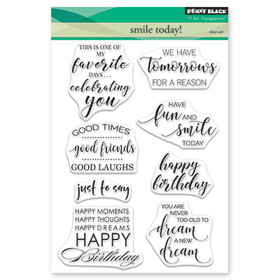 Penny Black SMILE TODAY Clear Stamp Set