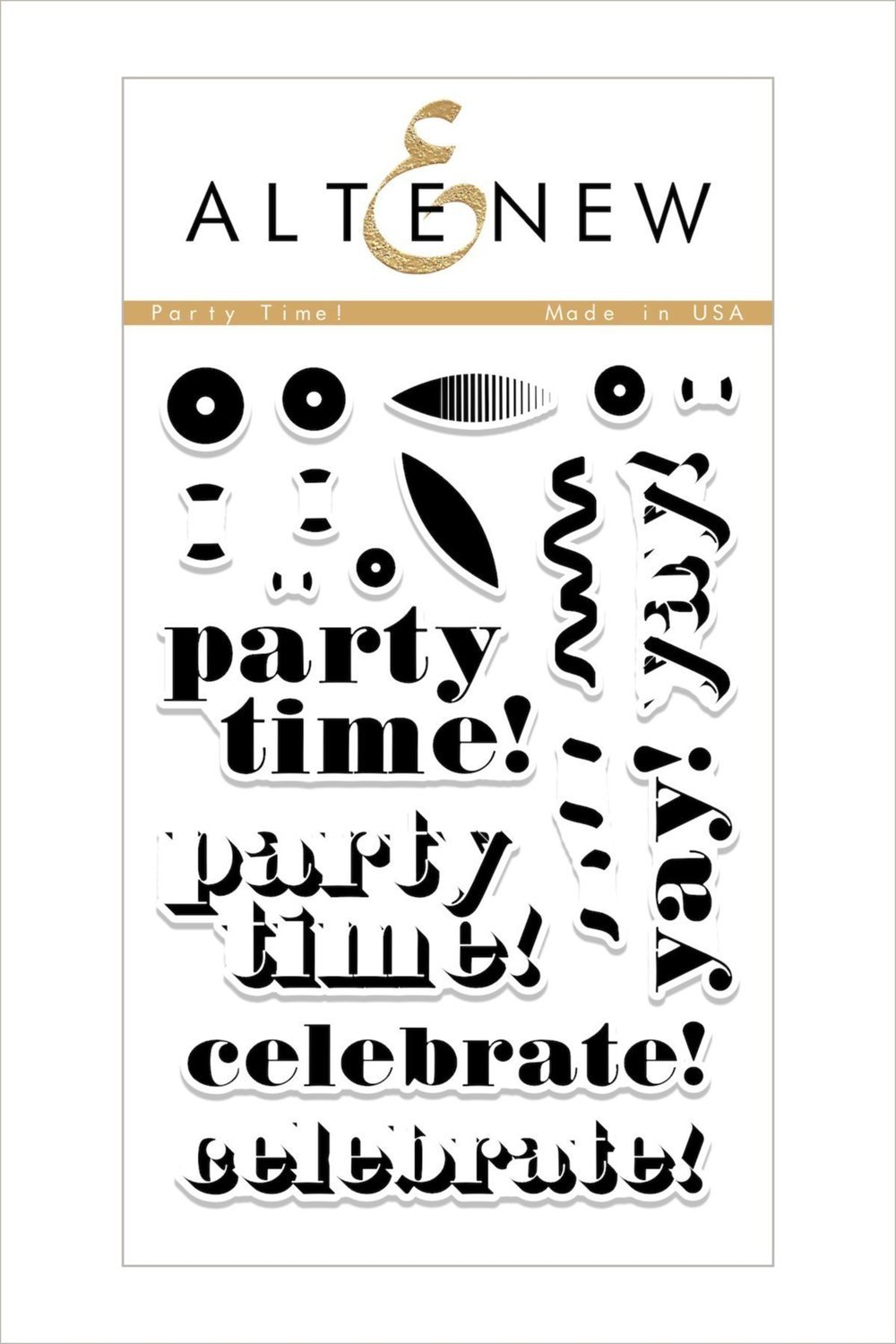Altenew PARTY TIME Clear Stamp Set