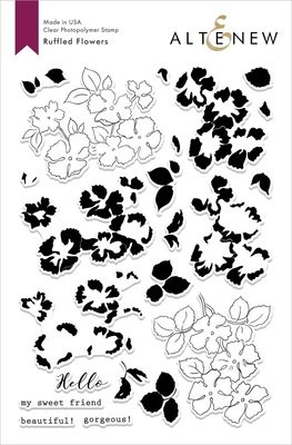 Altenew RUFFLED FLOWERS Clear Stamp Set