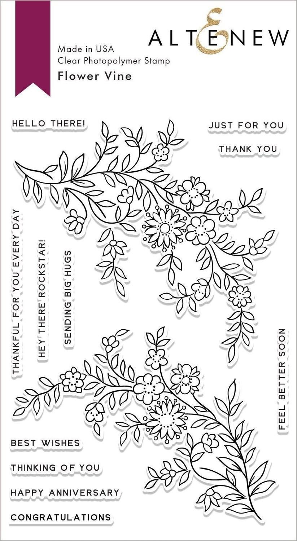 Altenew FLOWER VINE Clear Stamp Set