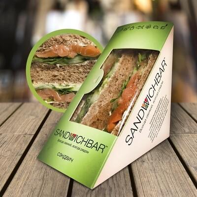 Сэндвич с Чилийской семгой и сыром маскарпоне