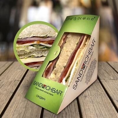 Сэндвич с ветчиной из индейки и сыром
