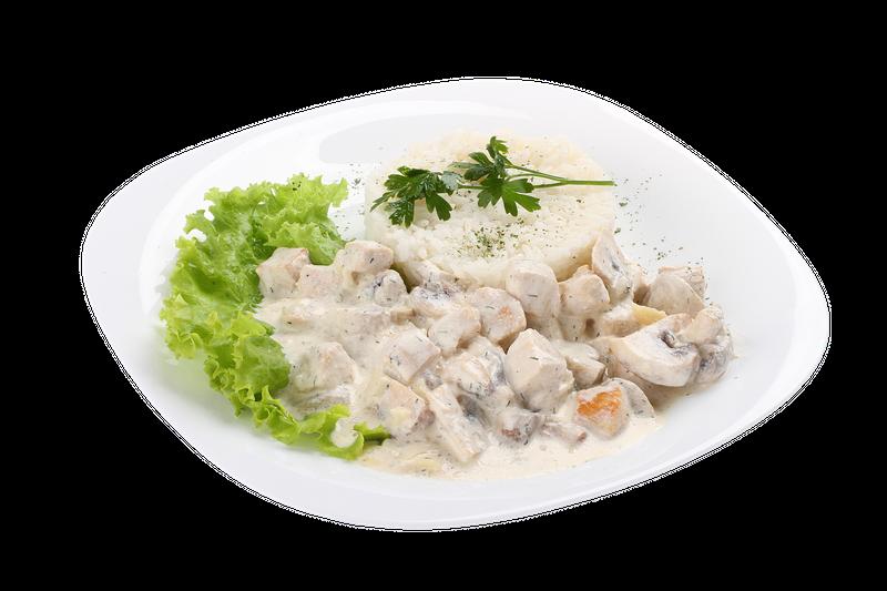 Фрикасе из куриного филе с рисом
