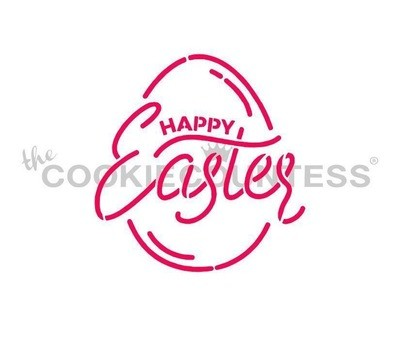 Easter Egg - Happy Easter Stencil