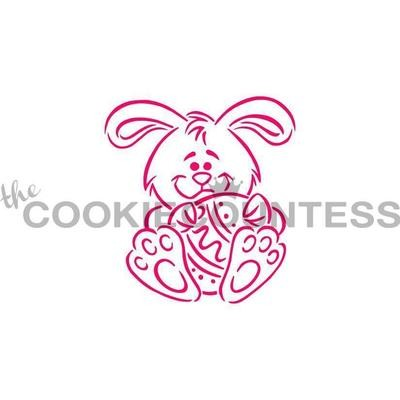 Bunny and Egg Cookie Stencil by Cookie Countess