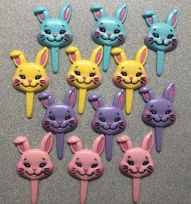 Easter Bunny Cupcake Picks