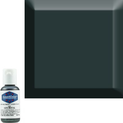 Gun Metal  Americolor 0.75 oz Soft Gel Paste