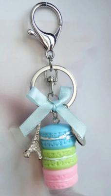Blue, Green, & Pink Macaron Keychain