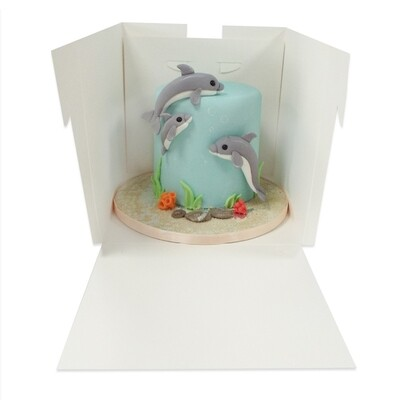 Extra Deep Cake Box with Window - 14 inches