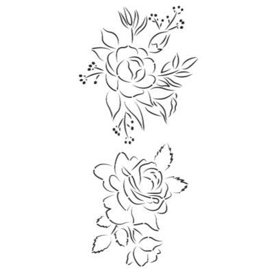 Bloom 2 Cake Stencil By Caking It Up