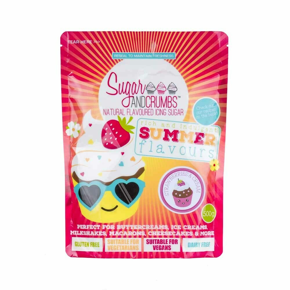 Sugar and Crumbs Strawberries and Cream