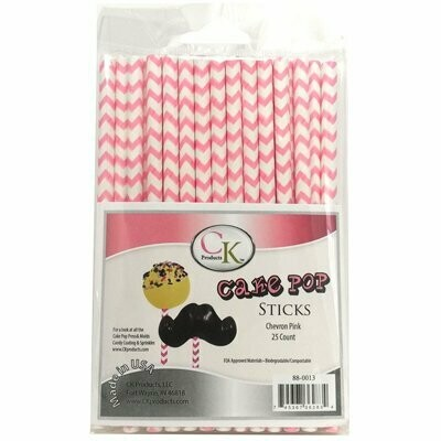 Paper Straws - Chevron Pink