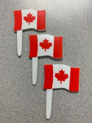 Canadian Flag Cupcake Toppers