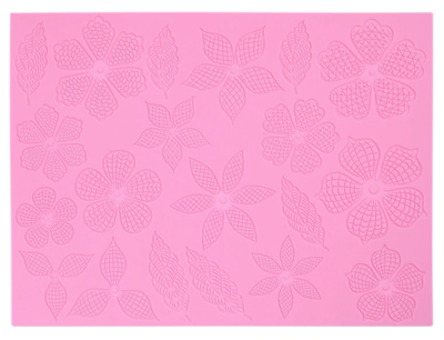 Flowers & Leaves Silicone Mat