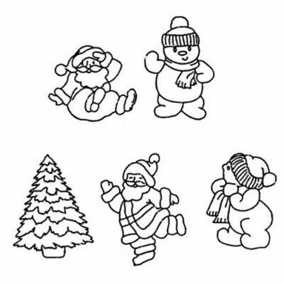 Patchwork Cutters - Santa/Snowman Set