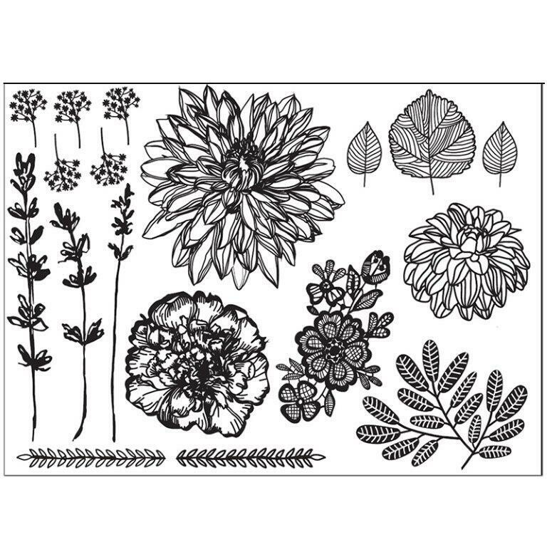 Hand Drawn Florals Lace Mat